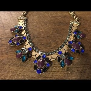 Chico's Gold Tone and Rhinestone Costume Necklace
